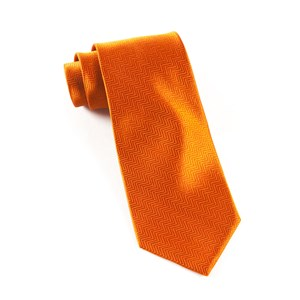 herringbone burnt orange ties