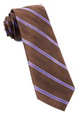 Ties - Pipe Dream Stripe - Chocolate Brown