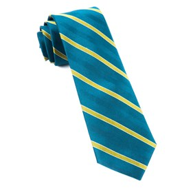 Pipe Dream Stripe Green Teal Ties