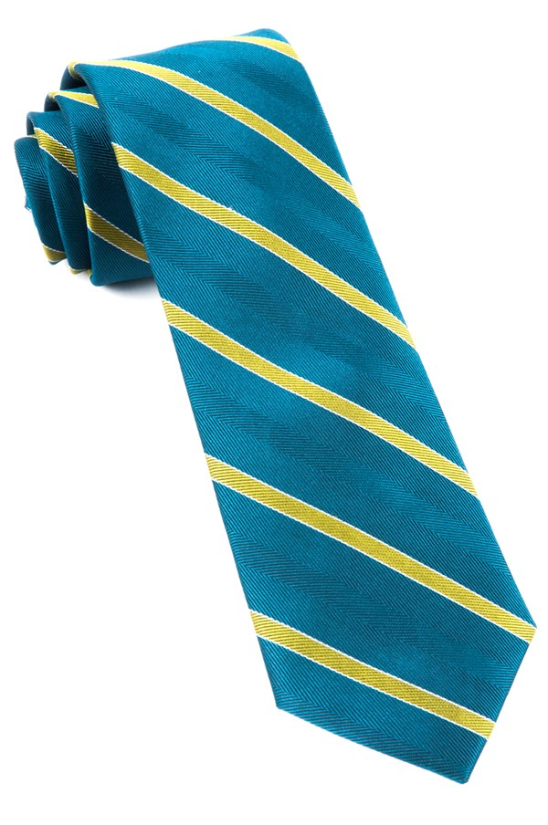 Pipe Dream Stripe Green Teal Tie