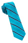 Ties - Pipe Dream Stripe - Turquoise