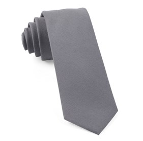 Light Grey Solid Wool ties