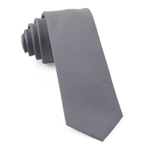 solid wool light grey ties