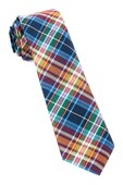 Ties - West Village Plaid - Deep Burgundy