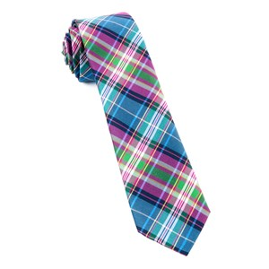 west village plaid fuchsia ties