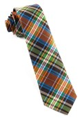 Ties - West Village Plaid - Orange