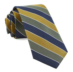 Olive Green Bedford Stripe ties