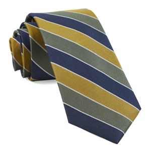 bedford stripe olive green ties