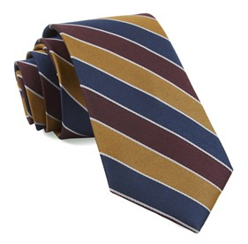 Bedford Stripe Burgundy Ties
