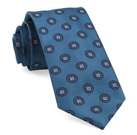 Teal Counter Medallions ties
