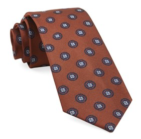 Orange Counter Medallions ties