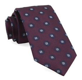 Burgundy Counter Medallions ties