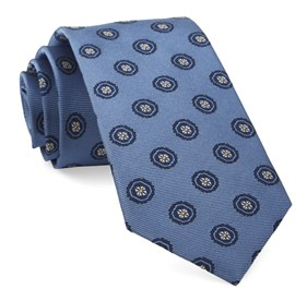 Light Blue Counter Medallions ties