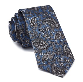 Light Blue Concord Paisley ties