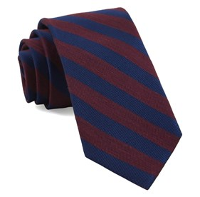 Burgundy Lumber Stripe ties