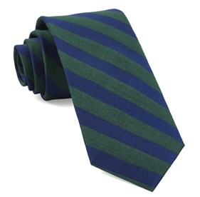 Hunter Green Lumber Stripe ties