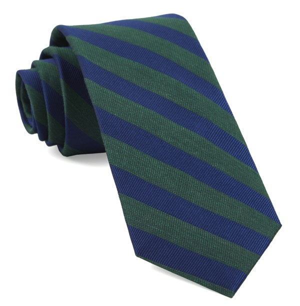 Lumber Stripe Hunter Green Tie