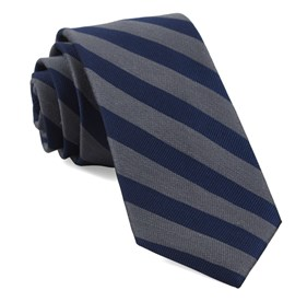 Grey Lumber Stripe ties