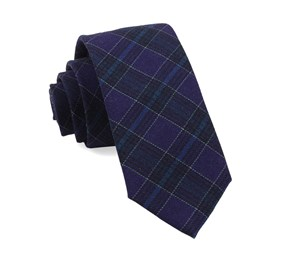 Eggplant Pittsfield Plaid ties