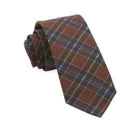 Burnt Orange Pittsfield Plaid ties