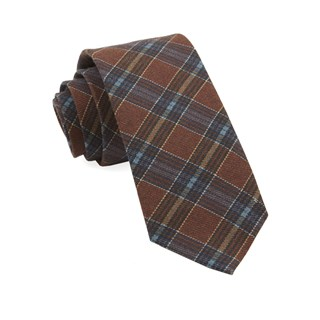 pittsfield plaid burnt orange ties