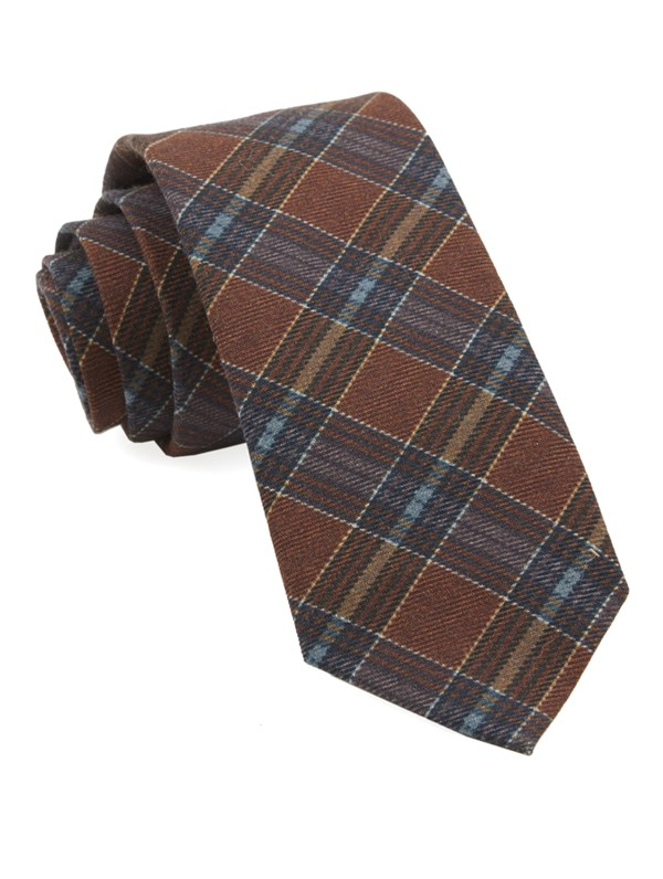 Pittsfield Plaid Burnt Orange Tie