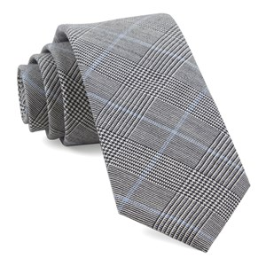 glens falls plaid black ties