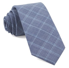 Light Blue Blue Line Plaid ties
