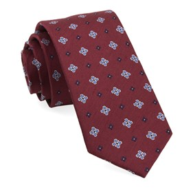 Burgundy Harbor Medallions ties