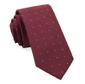 Burgundy Delisa Dots ties