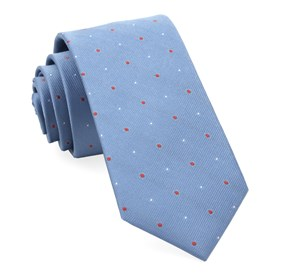 Light Blue Delisa Dots ties