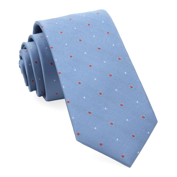 Light Blue Delisa Dots Tie