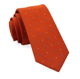 Orange Delisa Dots ties
