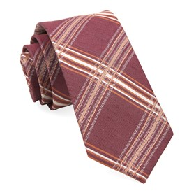 Marsala Kp Plaid ties