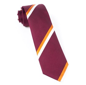 Ad Stripe Burgundy Ties