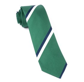 Ad Stripe Clover Green Ties