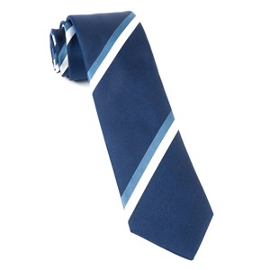 ad stripe navy ties