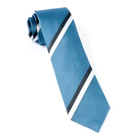 Ad Stripe Slate Blue Ties