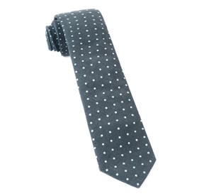 Black Corduroy Dots ties