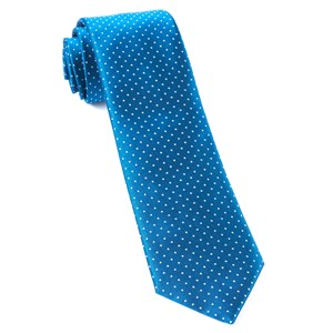 mini dots classic blue ties
