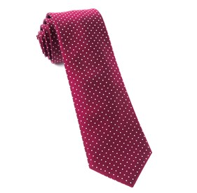 Mini Dots Burgundy Ties