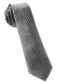 Ties - Mini Dots - Charcoal Grey
