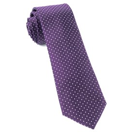 Mini Dots Eggplant Ties