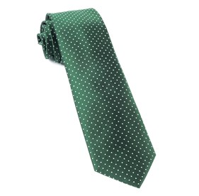 Hunter Green Mini Dots ties