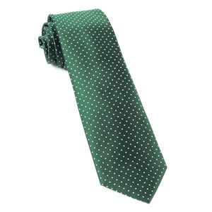 mini dots hunter green ties