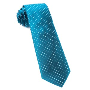 mini dots teal ties