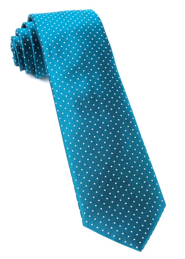 Mini Dots Teal Tie