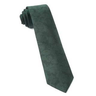 Refinado Floral Hunter Green Tie
