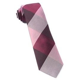 Burgundy West Bison Plaid ties