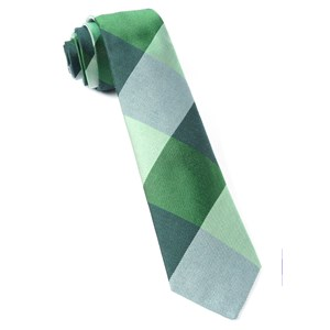 west bison plaid green ties